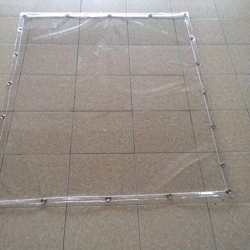 TAO-bache extérieure en Bois Bache de Prougeection Bache PVC Tapis de Prougeection Couvre la Tente Transparent en Plastique antipluie renforcé Bache Robuste (Taille   3x3m)