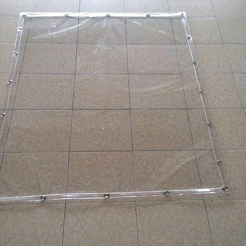 Yuke Bache extérieure en Bois Bache de Prougeection Bache PVC Tapis de Prougeection Couvre la Tente Transparent en Plastique antipluie renforcé Bache Robuste (Taille   5x6m)