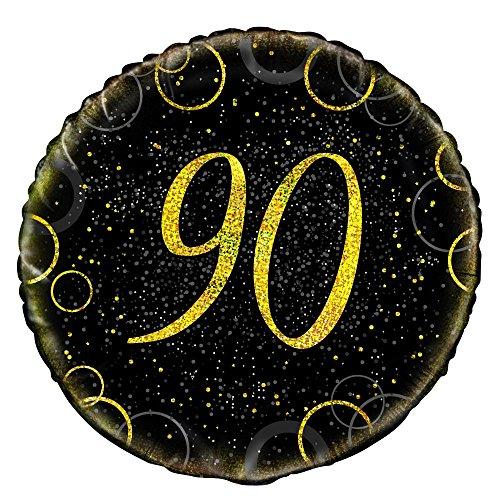 Unique Party 5584045,7cm Glitz Gold Folie zum 90. Geburtstag Ballon