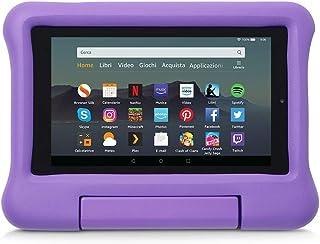 Custodia per bambini per tablet Fire 7 (compatibile con dispositivi di 9ª generazione, modello 2019), Viola