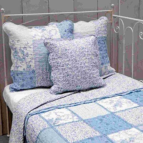 Q151.062 Clayre & Eef - Couvre-lit - Couverture - Bleu ca. 260 x 260 cm