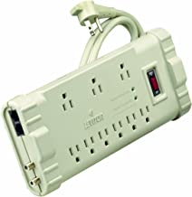 Leviton S2000-PTC 120 Volt/15 Amp, Office Grade Surge Strip, Abs Plastic Enclosure, 6 Ft Cord, 5-15P plug