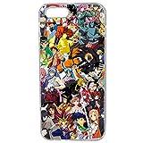 Générique Coque pour iPhone 5/5S/Se Motif Manga One Piece Dragonball Naruto Ichigo Meddley