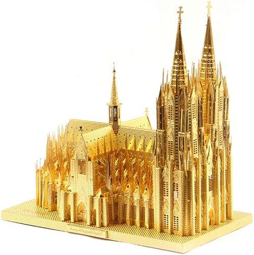 Baby Toys 3D Metallmodell Puzzle Puzzle, 3D Laserschneiden Kreatives DIY Puzzle K er Dom Winzige Modelldekoration, Enth  Puzzle-Werkzeug