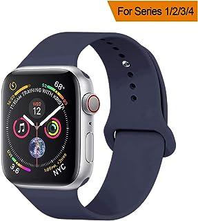 YANCH - Correa de repuesto para Apple Watch de 1.496in, 1.654in, 1.575in, 1.732in, silicona suave, compatible con iWatch Series 4/3/2/1, Nike+,Sport, Edition,S/M M/L