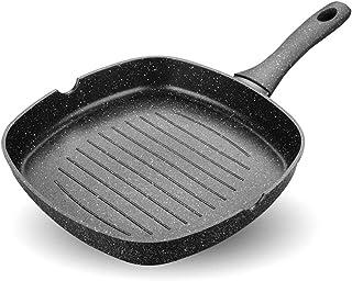 ZHESHEN Sartenes Expertise Grill De Aluminio, Antiadherente, Aptas Para Todo Tipo De Cocinas Incluido