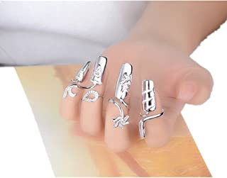 Hot Selling! Layhome Adjustable Women Girls Nail Ring Nail Decoration (4 fingers)