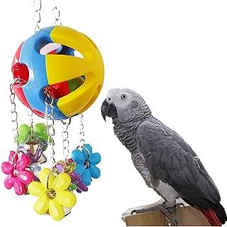 Keersi Bird Chew Toy with Bells for Parrot Macaw African Greys Eclectus Cockatoo Budgies Parakeet Cockatiel Conure Lovebirds Cage