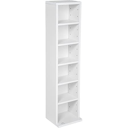 TecTake Estante de CD DVD Shelf archivado 102 CDs DVDs (Blanco | no. 401700)