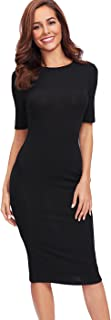 Women's Short Sleeve Elegant Sheath Pencil Dress