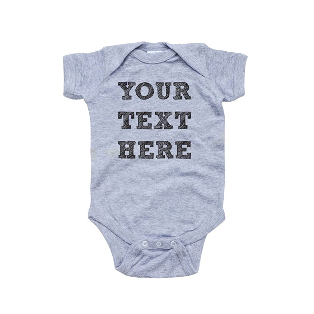 Apericots Cute 100% Fully Customizable Custom Customize Text Soft Cotton Baby Creeper