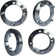 4x156 Wheel Spacers (1 inch) 25.4mm (131mm bore, 3/8 x 24 Studs & Nuts) for Polaris Predator, Ranger, Sportsman, RZR, Yamaha (Silver) (4 Pcs)