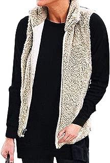 YYW Women's Warm Sherpa Fleece Vest Sleeveless Cardigan for Women Lightweight Front Overwear Coats Jacket with Pockets