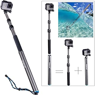 Smatree Carbon Fiber Detachable Extendable Floating Pole Compatible for GoPro MAX/GoPro Hero Fusion/8/7/6/5/4/3 Plus/3/Session/GoPro Hero 2018/DJI OSMO Action Camera