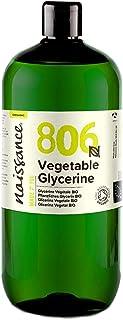 Naissance Organic Vegetable Glycerine (#806) 1L (1000ml) - Gecertificeerd Biologisch, 100% Puur & Natuurlijk, Premium EP/B...