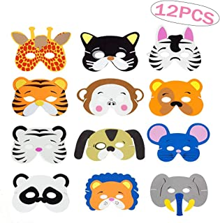 SPECOOL 12 Mascarillas de Espuma EVA para niños para bolsas de Fiesta, Máscara, Fiesta