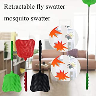 JMcall Extendable Upgrade Swatter Portable Strong Flexible Manual Telescopic Handle(Color:Multicolor & Material:PP+PVC)
