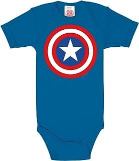 Logoshirt Captain America - Shield Baby Body blau
