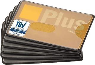 Fundas para Tarjetas de credito | 6X | plástico Transparente | Aprobado por el TÜV | Bloqueo del RFID NFC | Card Protector...
