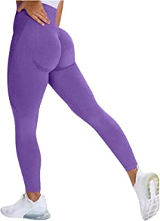 Rickitrty Sexy Butt Lifting Leggings Scrunch High Waist Tummy Control Compression Yoga Leggings Workout Tights for Women