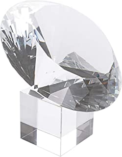 LONGWIN Huge 150mm (5.9 in.) Crystal Polyhedron Diamond Paperweight Wedding Home Decoration Christmas Centerpieces(Clear)