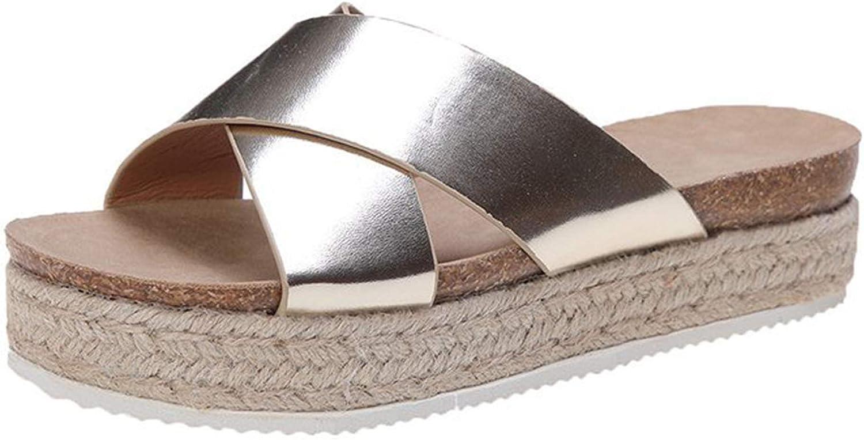 Erocalli Platform Slide Sandals for Women Toe Bow famous Open Slip Large discharge sale Cute