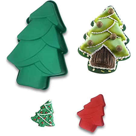 12 Christmas Tree Shaped Baking Pans Disposable Aluminum Foil Cake Pan Mold Festive Holiday Specialty Novelty Bakeware For Baking And Decorating Supplies Party Decorations
