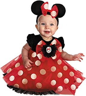 Baby Girl Red Minnie Mouse Costume Headband &Slippers- 6/12 Months