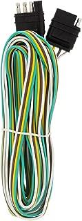 ABN Trailer Wire Extension, 20ft, 4-Way 4-Pin Plug Flat 20 Gauge – Hitch Light Trailer Wiring Harness Extender