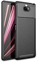 Pulen for Sony Xperia (10 Plus) Case 6.5'',Soft Gel Silocone Case Protective Cover Anti-Slip Scratch Resistant Shock-Absorption Ultra Light Shell for Xperia 10 Plus 2019 (Black)