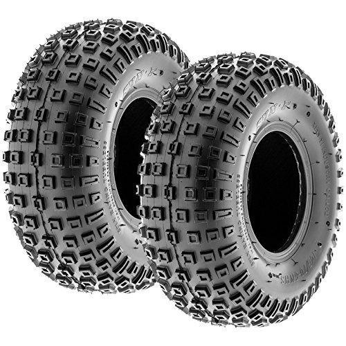 Pair of 2 SunF A011 XC Sport 145/70-6 (14x6-6) ATV Go-Kart Knobby Tires, 6 PR, Tubeless