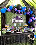 100Pcs Balloon Garland & Arch Kit-100pcs Purple Blue and Black Latex Balloons, 16 Feets Arch Balloon Decorating Strip for Video Game Party Birthday Party Decorations