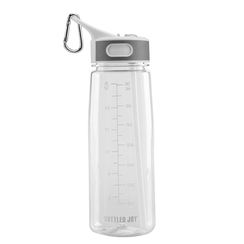 Bite Valve BPA Free 32OZ BOTTLED JOY Sports Water Bottle with Straw and Handle