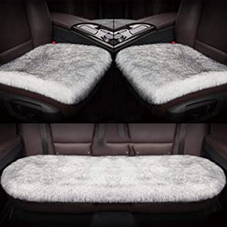 Washable Cars Seats Cover Coccyx Seat Cushion for Adults Plush Luxury Interior Thick Car Seat Cover Set Universal Cushion for Automobile Decoration and Warm in Winter
