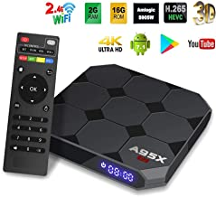 Android TV Box, A95X R2 Android 7.1.2 Smart TV Box 2GB/16GB Amlogic S905W Quad Core A53 Processor 64 Bits 2.4Ghz WiFi/LAN Support H.265 UHD 4K2K Smart TV Box