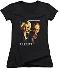 Bride of Chucky Chucky Gets Lucky Junior V-Neck T-Shirt
