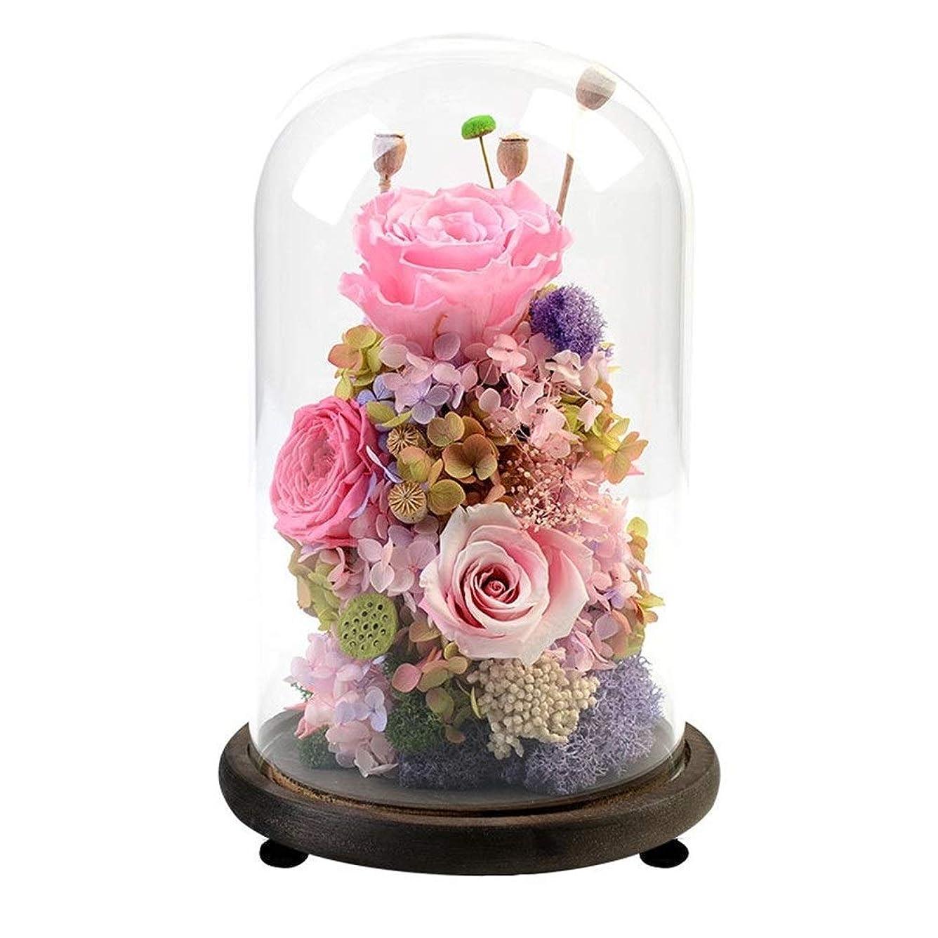 敬意ために宿泊施設美女と野獣バラ、マジックローズ、手作りのガールフレンドのための花、バレンタインデー、母の日、誕生日プレゼント、クリスマス、ギフトラスティングパーフェクトシルクローズやガラス、花バラ、ロングを作成します