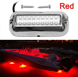 VOFONO Waterproof Ip68 Led Drain Plug Light 9w Underwater Boat Lights Marine Yacht Led Drain Plug Light for Fishing Swimming Divinng RED Color