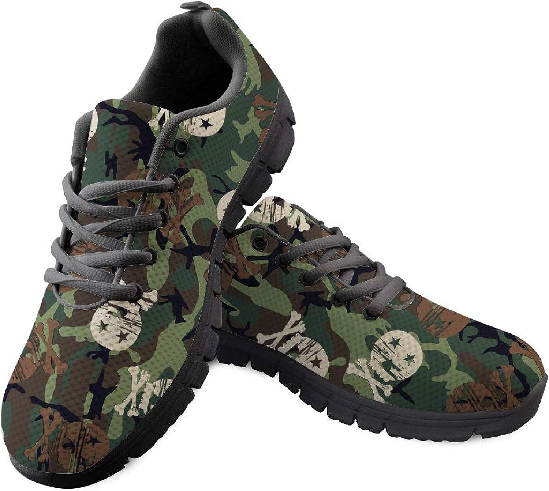 Chaqlin Student Women shoes Zomble Pattern Breath Tennis Running Walking Sneaker Green Size 36