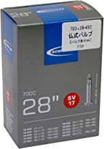 Schwalbe SV17 Fietsbinnenband voor volwassenen, uniseks, 28/47-622/635 EK 40 mm slang, zwart, 28