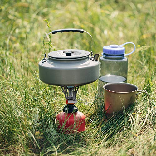 Camping Camp Stove Backpacking Stoves Pocket Rocket Backpack Portable Fuel Burner - Lightweight Portable Outdoor Accessories Gear with Piezo Ignition, Survival Kit for Emergency, Hurricane, Earthquake