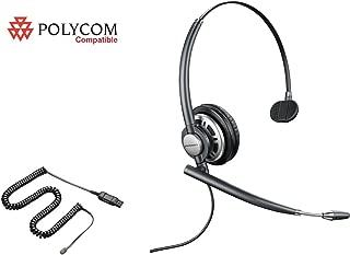 Polycom Compatible Plantronics VoIP Noise Canceling EncorePro 710 HW710 Headset Bundle for Polycom: IP 300 335 450 501 550 560 600 650 670   VVX 300 310 400 410 500 600 1500   CX 300 600 700
