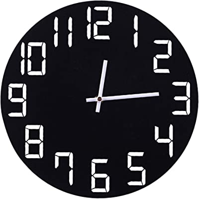 Nazaka   Wall Clocks   1 Piece Mute Round Wall Clocks Home Decor Quartz Pierced Slient