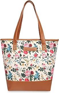 Sakwoods canvas floral printed tote bags