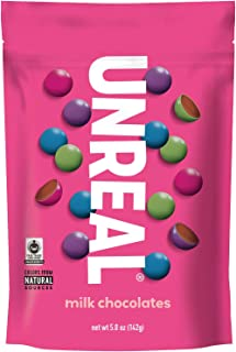 UNREAL Milk Chocolate Gems | Naturally Colored, Less Sugar | 6 Bags