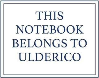 This Notebook Belongs to Ulderico