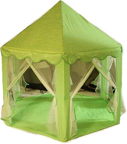 Moskitosicheres Zelt, Sechseckige, Faltbare, Atmungsaktive Maschennetze, Spielhaus, Geeignet FüR Drinnen, Draußen Und Am Strand,Grün