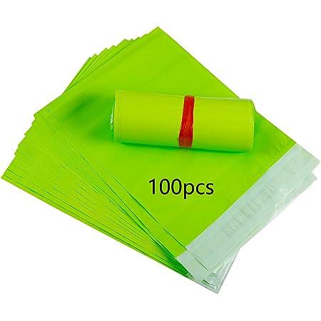 HVDHYY Buste Spedizione Plastica Autoadesive Sacchetti per Spedizioni Verde 100pezzi 32cmX45cm C3 Borse Postali Sacchetti di Buste per Postali Spedizione in Plastica Sacchi per Spedizioni