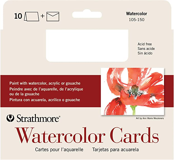 Set of 25 Heavyweight Arteza Blank Watercolor Cards with Envelopes Invitations /& Greeting Cards 100/% Cotton Watercolor Postcards for Thank You Notes 140 lb 5x6.875 Inches