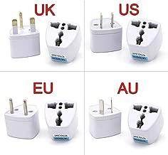 1PC Universal UK US AU EU AC Power Socket Plug Travel Electrical Charger Adapter Converter Japan China America Italy Switzerland,EU Plug,White